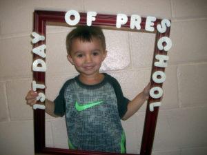 4 Year Old Preschool First Day
