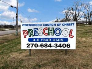 Owensboro Church of Christ Preschool in Owensboro Signage